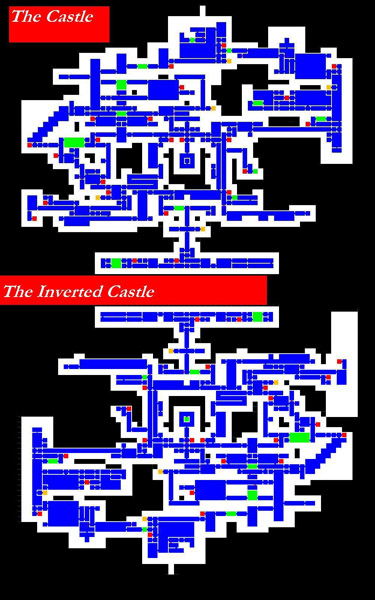 Castlevania Symphony of the Night - PSX Map of a never-ending game on
